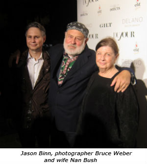 Jason Binn photographer Bruce Weber and wife Nan Bush