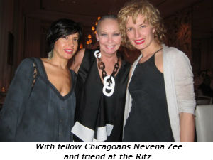 Candace Jordan Nevena Zee and friend at the Ritz
