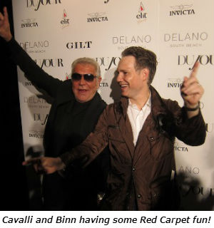 Cavalli and Binn having some Red Carpet fun