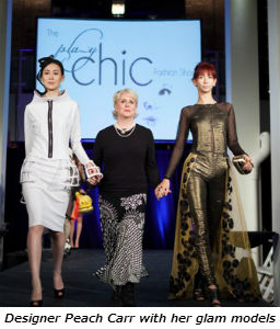 Designer Peach Carr with her glam models
