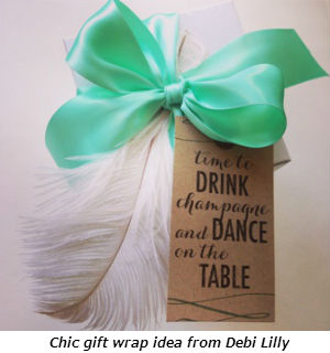 Chic gift wrap idea from Debi Lilly