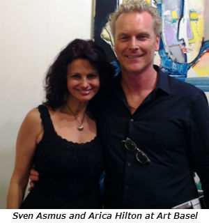 Sven Asmus and Arica Hilton at Art Basel