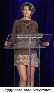 Leggy host Joan Severance
