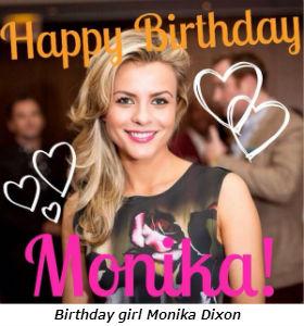 Birthday girl Monika Dixon
