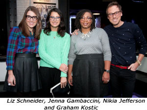Liz Schneider Jenna Gambaccini Nikia Jefferson and Graham Kostic