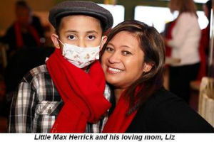 Max Herrick and his loving mom Liz