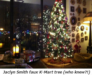 Jaclyn Smith faux K-Mart tree who knew