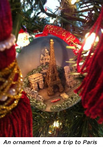 An ornament from a trip to Paris