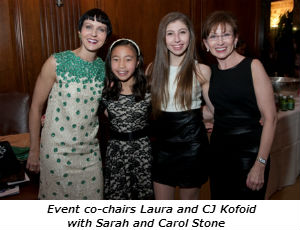 Event co-chairs Laura and CJ Kofoid with Sarah and Carol Stone