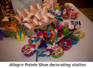 Allegro Pointe Shoe decorating station