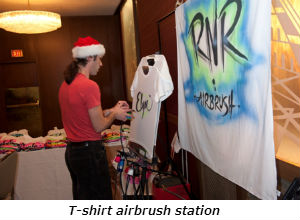 T-shirt airbrush station