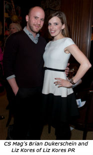 CS Mag's Brian Dukerschein and Liz Kores of Liz Kores PR
