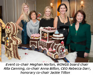 Event co-chair Meghan Norton WINGS board chair Rita Canning co-chir Anna Bilton CEO Rebecca Darr hon