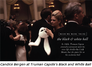 Candice Bergen at Truman Capote's Black and White Ball