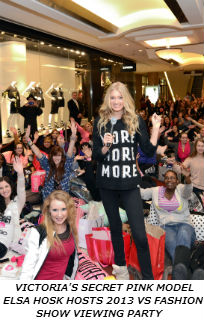 VICTORIA'S SECRET PINK MODEL ELSA HOSK HOSTS 2013 VICTORIA'S SECRET FASHION SHOW VIEWING PARTY