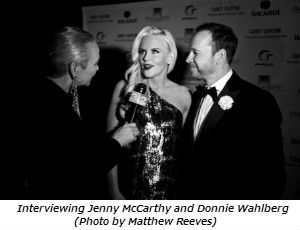 Interviewing Jenny McCarthy and Donnie Wahlberg (Photo by Matthew Reeves)