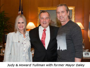 Judy and Howard Tullman with former Mayor Daley