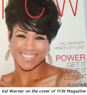 Val Warner on the cover of TCW Magazine