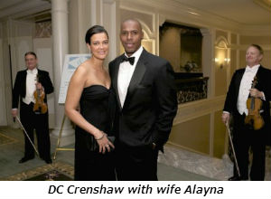 DC Crenshaw with wife Alayna