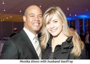 Monika Dixon with husband Geoffrey