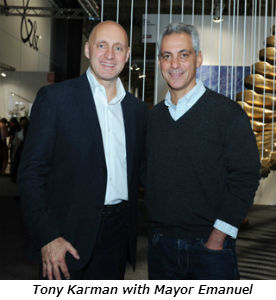 Tony Karman with Mayor Emanuel