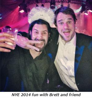 NYE 2014 fun with Brett and friend