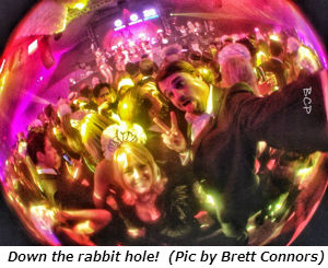 Down the rabbit hole (Photo by Brett)