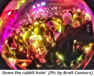 Down the rabbit hole (Photo by Brett)