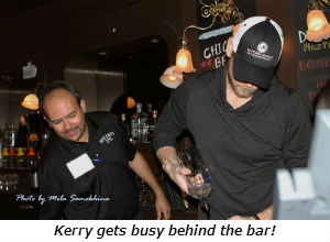 Kerry gets busy behind the bar