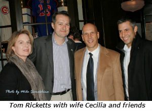 Tom Ricketts with wife Cecilia and friends