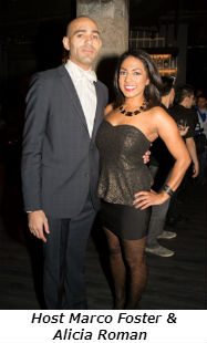 Host Marco Foster and Alicia Roman