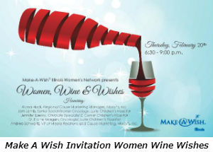 Make A Wish Invitation Women Wine Wishes