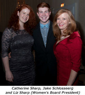 Catherine Sharp Jake Schlosseerg and Liz Sharp Womens Board President