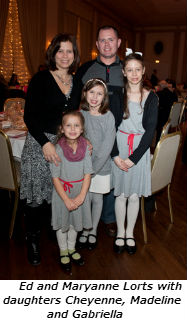 Ed and Maryanne Lorts with daughters Cheyenne Madeline and Gabriella