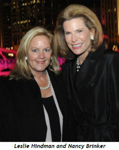 Leslie Hindman with Nancy Brinker