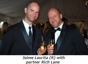 Jaime Laurita (R) with partner Rich Lane