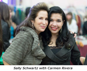 Sally Schwartz with Carmen Rivera