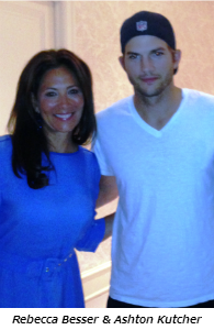 Rebecca Besser and Ashton Kutcher