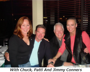 With Chuck Patti and Jimmy Connors