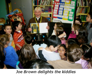 Joe Brown delights the kiddies