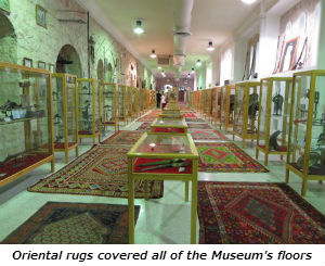 Oriental rugs covered all of the Museum's floors