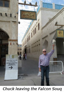 Chuck leaving the Falcon Souq