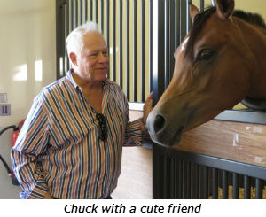 Chuck with a cute friend
