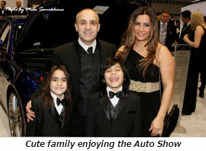 Cute family enjoying the Auto Show