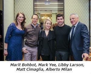Marit Bohbot Mark Yee Libby Larson Matt Cimaglia Alberto Milan
