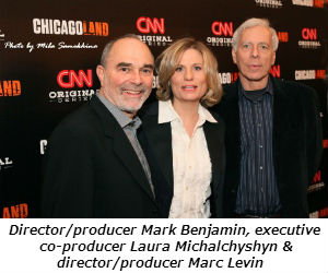 Directorproducer Mark Benjamin executive co-producer Laura Michalchyshyn and directorproducer Marc L