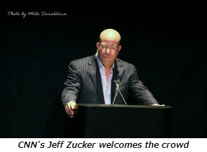 CNNs Jeff Zucker welcomes the crowd
