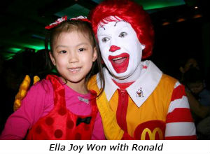 Ella Joy Won with Ronald