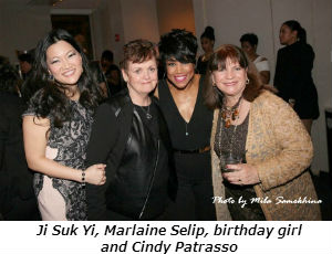 Ji Suk Yi Marlaine Selip birthday girl and Cindy Patrasso