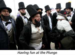 Having fun at the Plunge